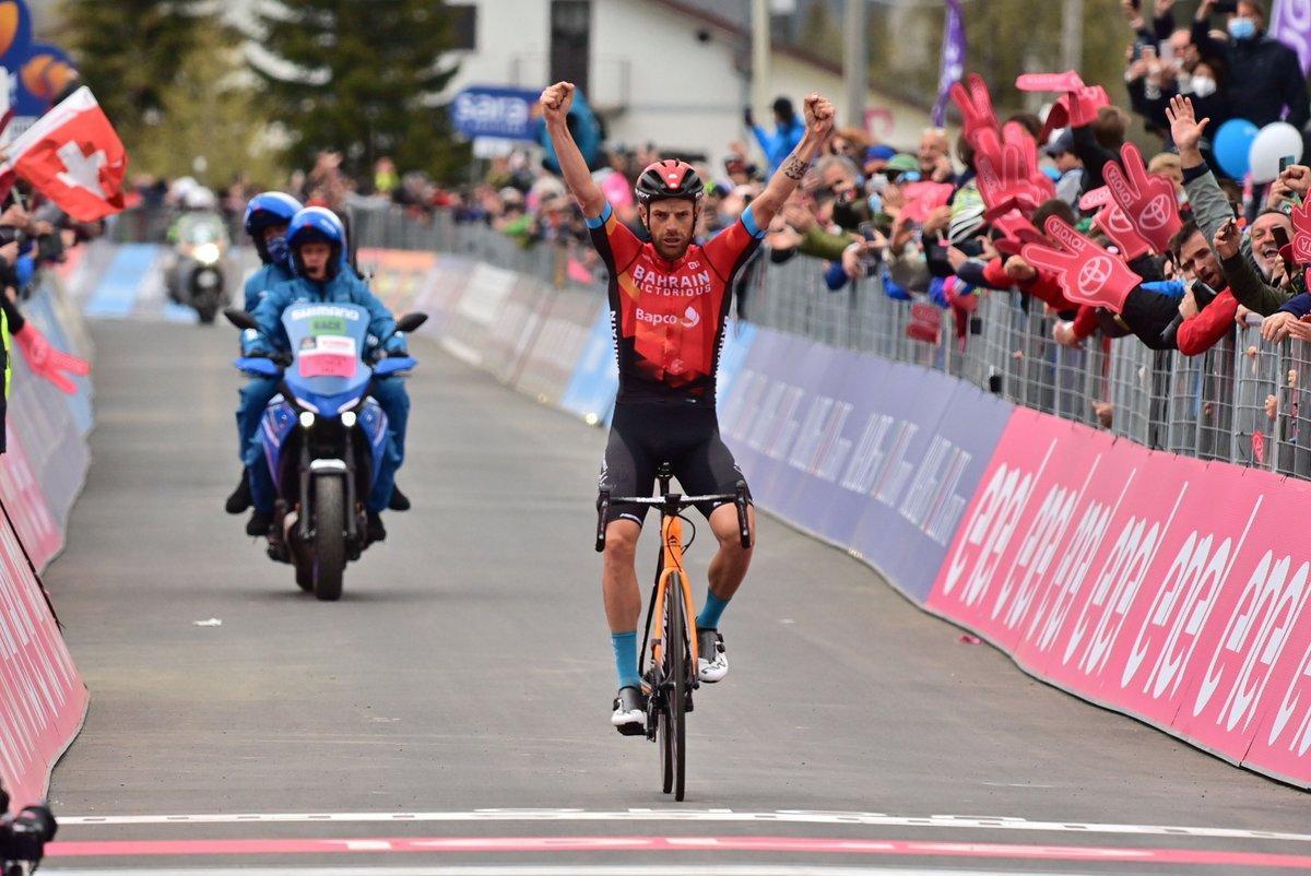 Damiano Caruso se impone en la penúltima etapa del Giro 2021.
