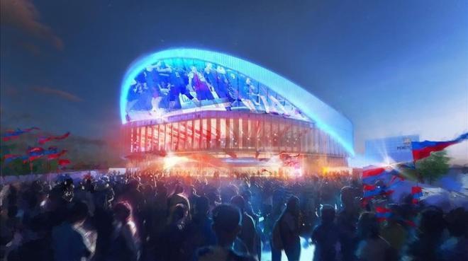 Imagen virtual del exterior del nuevo Palau Blaugrana.