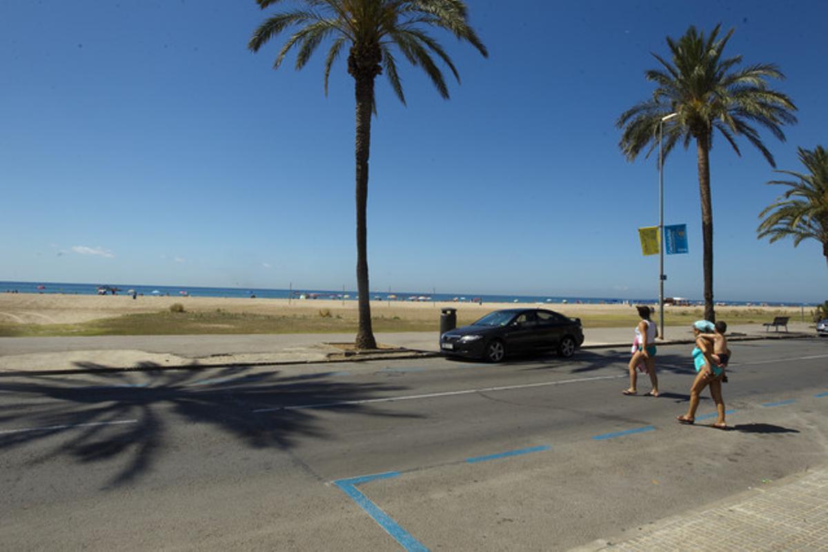 Una de las playas de Castelldefels.