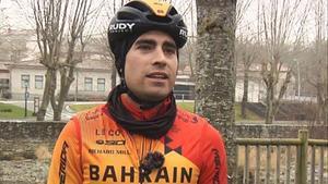Mikel Landa, con los colores del Bahrein.