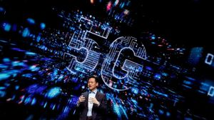 Frank Lee, director de la unidad de móviles de LG, en la presentación de LG en Barcelona de un móvil con 5G.