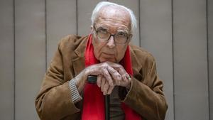 El historiador de cine Román Gubern, en un céntrico hotel de Barcelona.