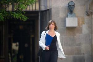 Meritxell Borràs, en el Palau de la Generalitat, el mes de julio.