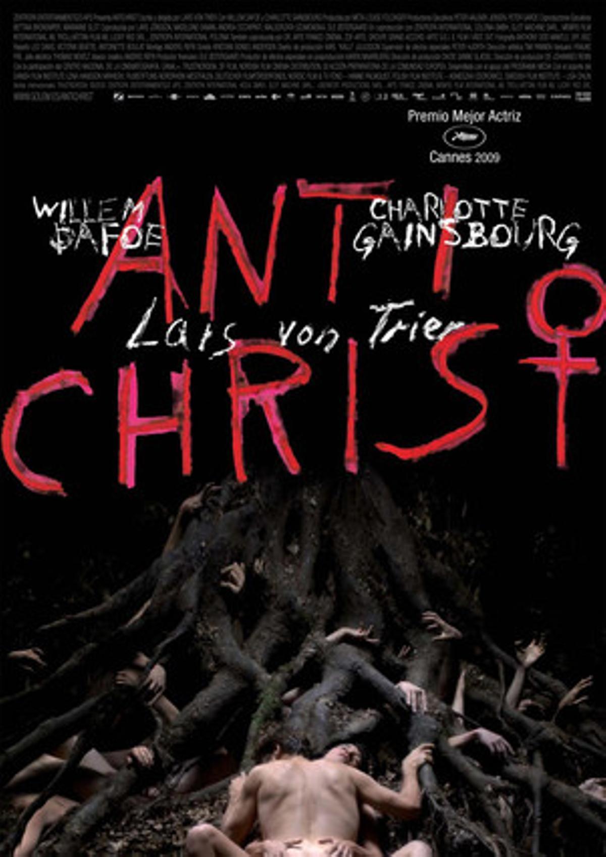 Carátula de la película 'Anticristo', de Lars von Trier.