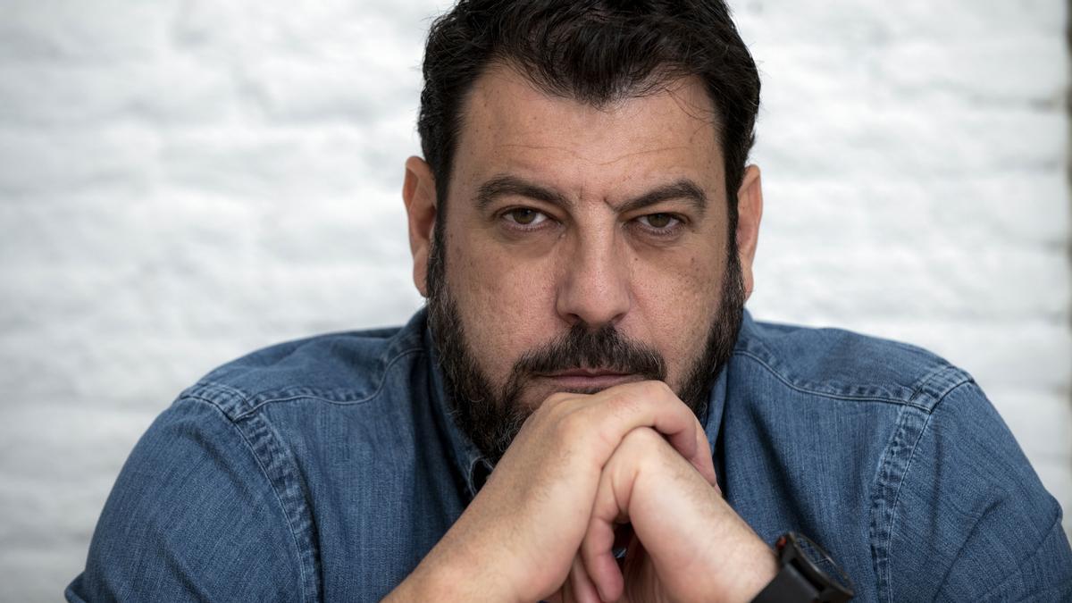 El escritor Santiago Díaz, autor de 'El buen padre'.