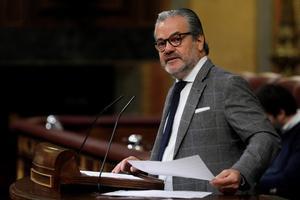 El diputado de Cs, Marcos de Quinto, este jueves en el pleno del Congreso.