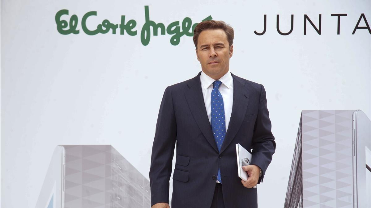 El presidente de El Corte Inglés, Dimás Gimeno, en la presentación de los resultados del ejercicio del 2016, en Madrid.