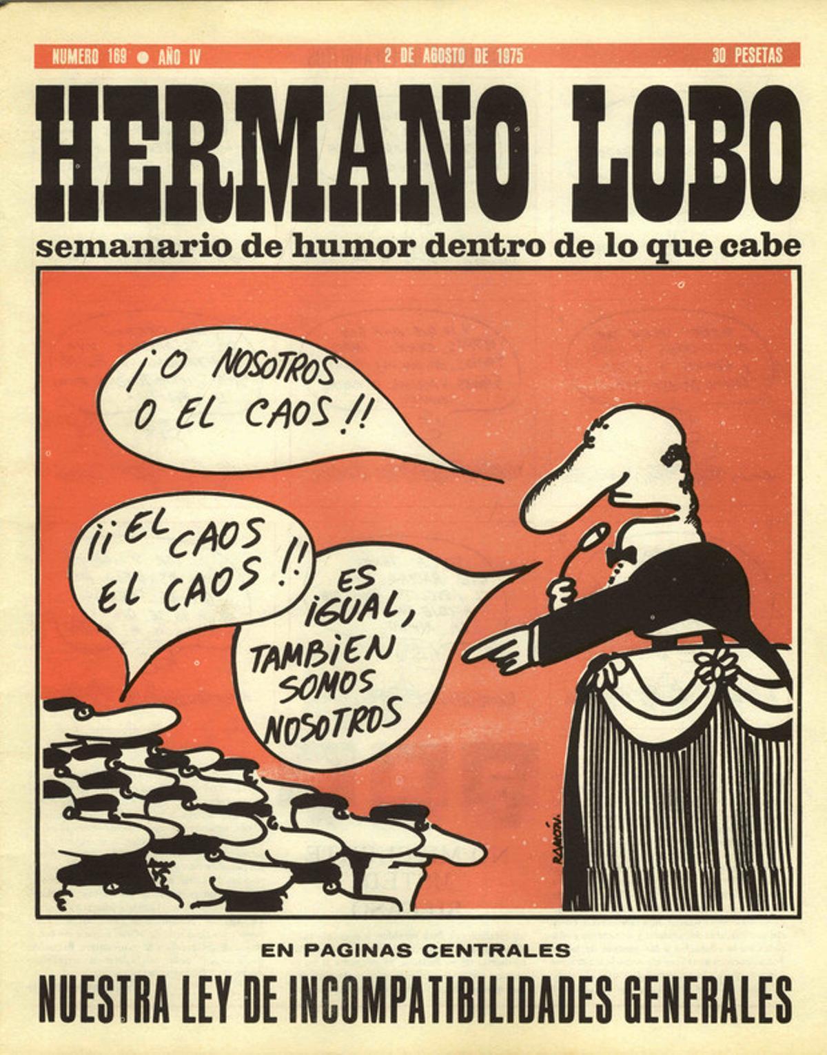 """El error de Pedro Sánchez: el """"Yo o el caos"""" no es de El Roto, sino de 'Hermano Lobo'"""
