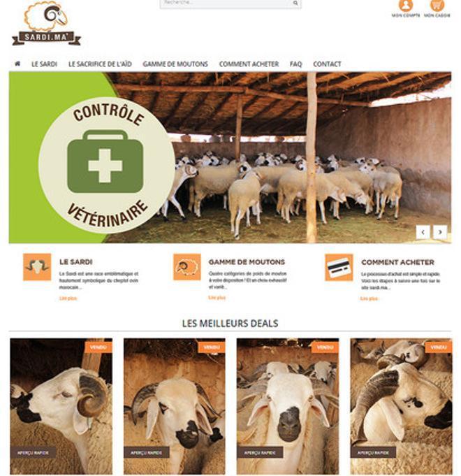 La web marroquí Sardi, de venta de corderos.
