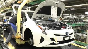 Producción del Toyota Prius en Japón.