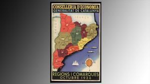 mapa comarcas catalanas de 1936