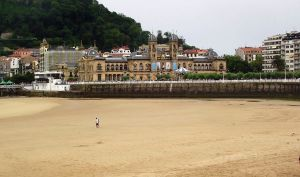 Imagen de la playa de la Concha de San Sebastián.