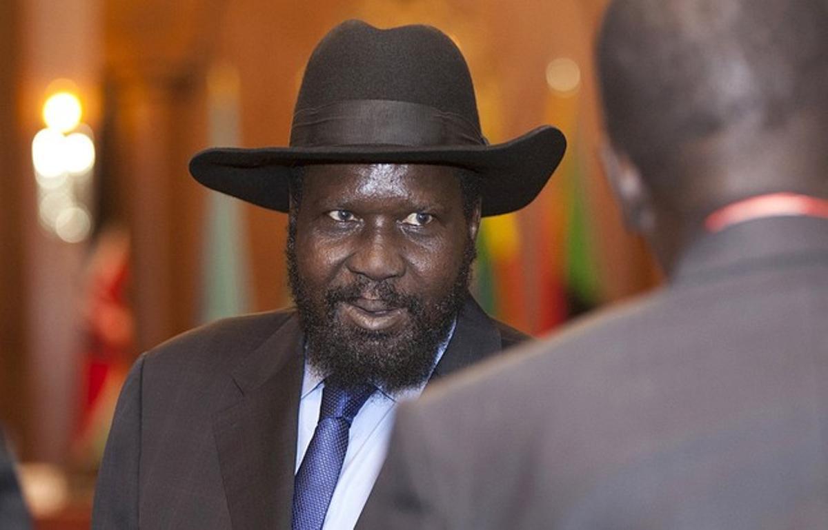 El presidente Sudán del Sur, Salva Kiir.