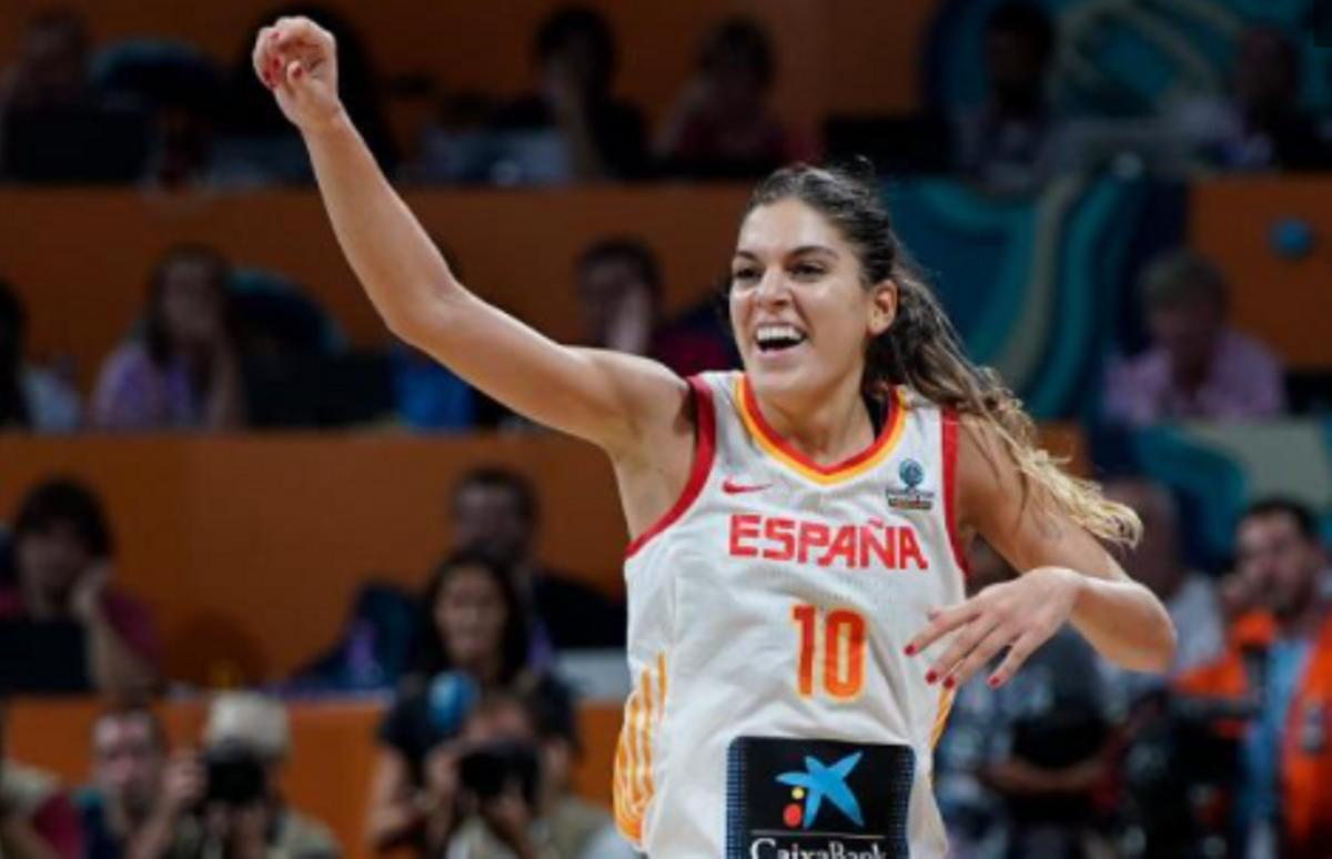 Marta Xargay, en una imagen de archivo con la camiseta de la selección