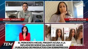 """Miguel Frigenti destapa una presunta estafa de Noemí Salazar y ella responde: """"Cuidado con difamarme"""""""