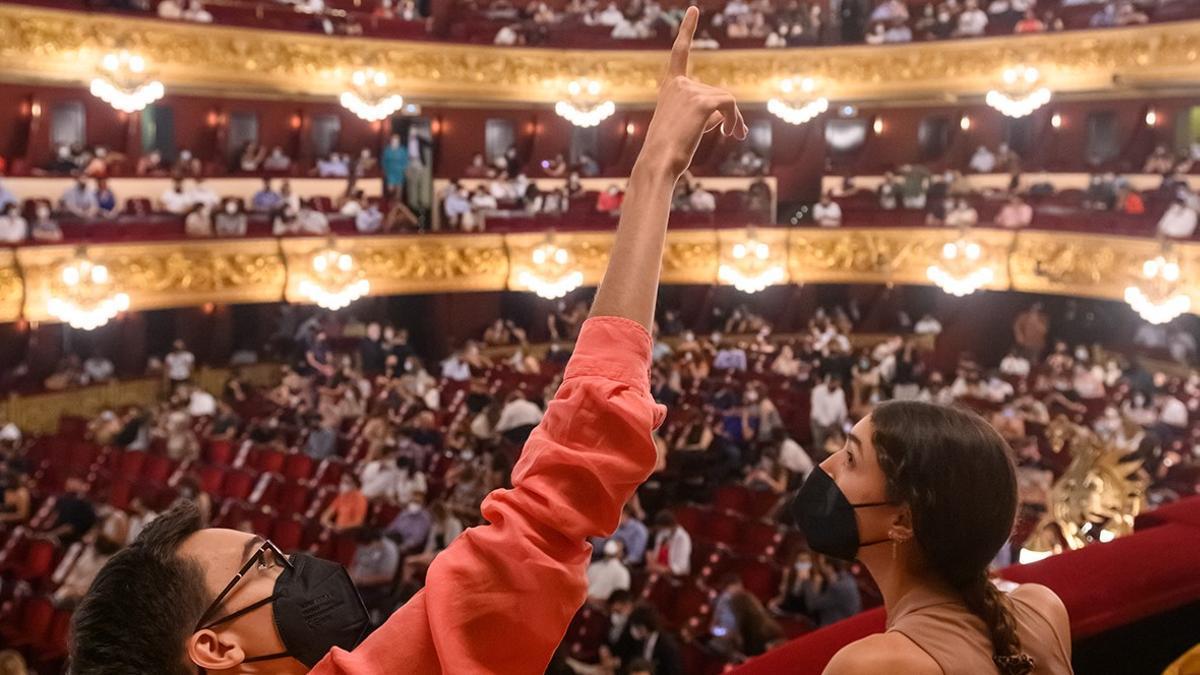 Público asistente a 'Lucia di Lammermoor' en el 'Liceu Under 35'