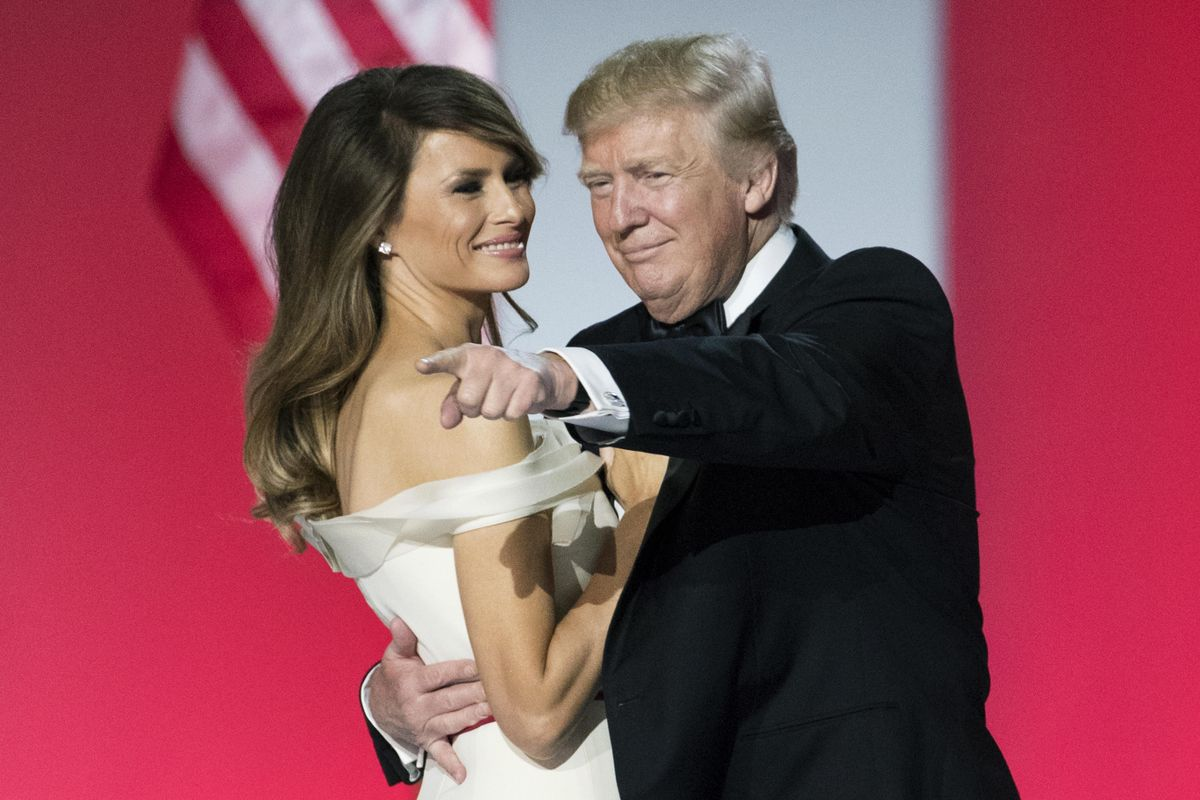 El matrimonio Trump, Melania y Donald, en el baile inaugural del 2017, en Washington.