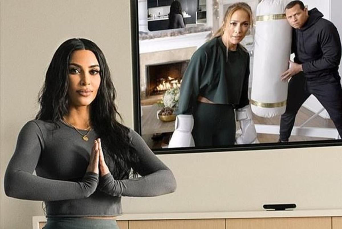 Videoconferencia entre Kim Kardashian y Jennifer López.