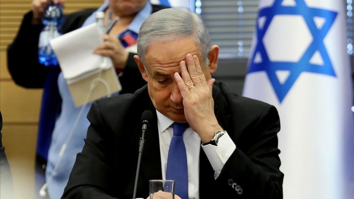 El primer ministro israelí, Binyamin Netanyahu, durante una rueda de prensa el pasado 20 de noviembre en la Kneset.