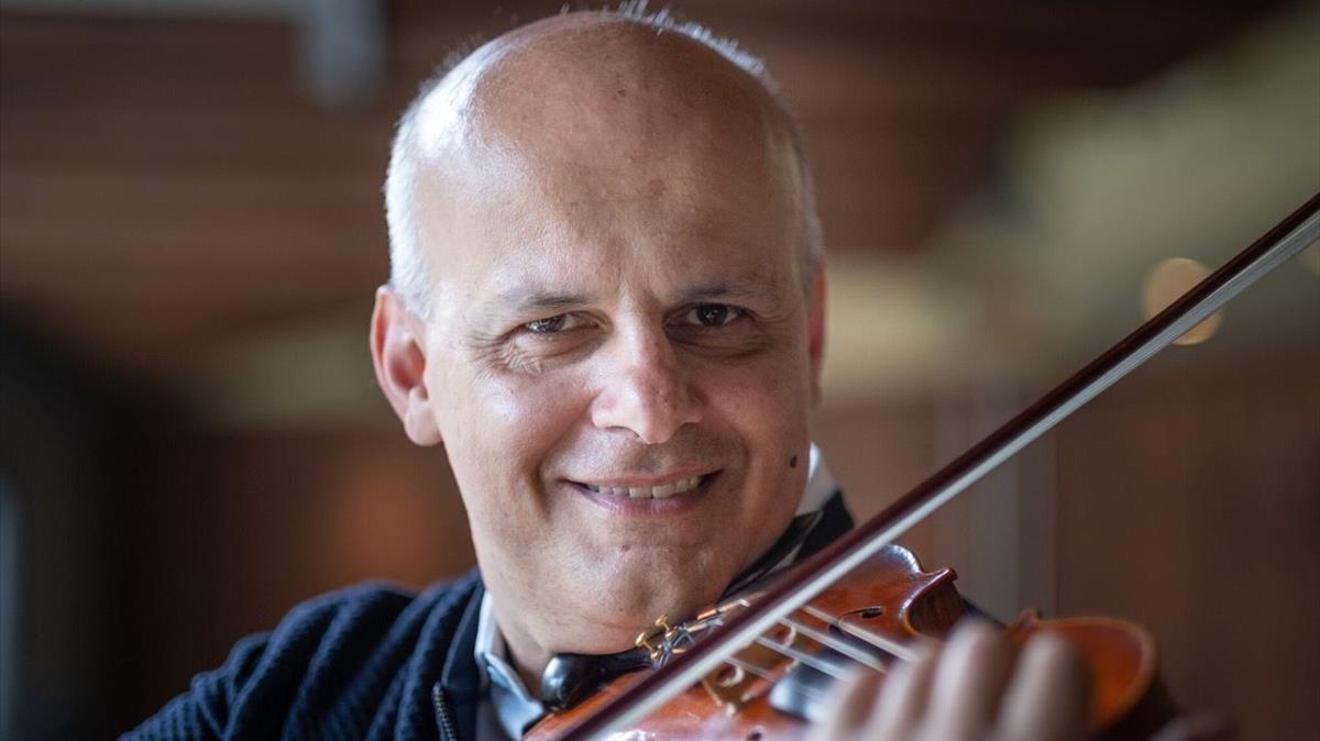 El violinista italiano Corrado Bolsi, profesor en el Conservatori del Liceu.