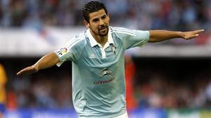 Nolito celebra el tanto anotado frente al FC Barcelona