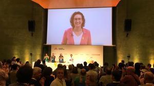 Marta Rovira participa, vía videoconferencia, en el consejo nacional de ERC del pasado 22 de septiembre.