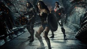 Aquaman, Wonder Woman y Cyborg, en 'La Liga de la Justicia de Zack Snyder'.