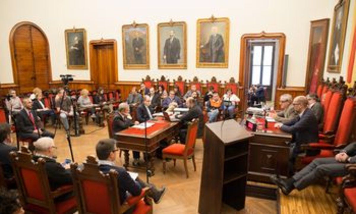 Imagen de un Pleno Municipal en Terrassa.