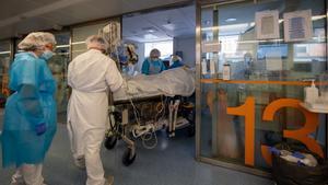 Uci del Hospital Clínic de Barcelona.