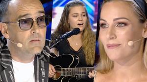 Risto Mejide, Gisela y Edurne en la primera gala de 'Got Talent 6'.