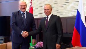 Putin i Lukaixenko mantenen la seva primera reunió després de la desviació del vol de Ryanair