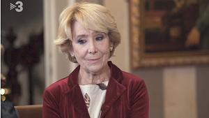 Esperanza Aguirre desde Madrid (TV-3).