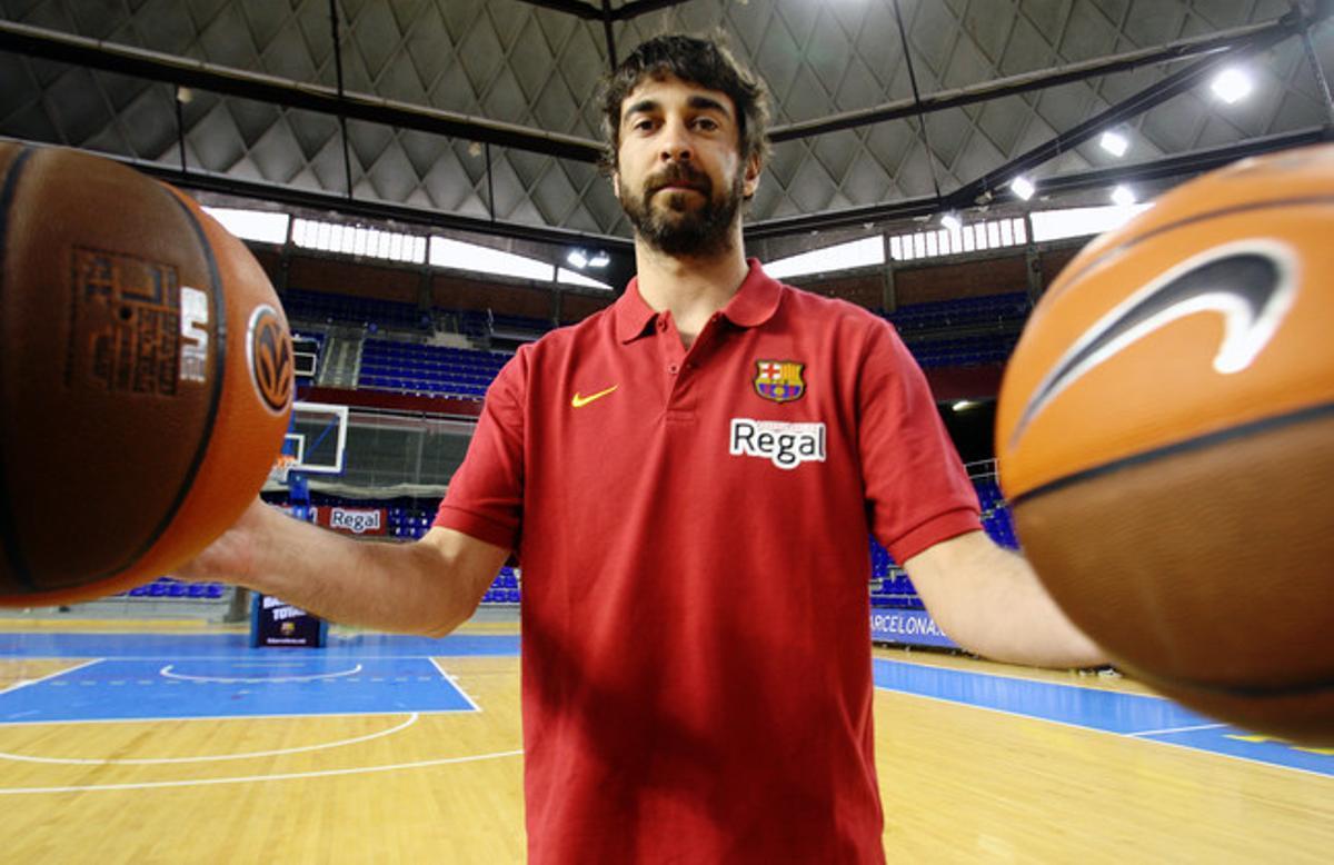 Juan Carlos Navarro, el pasado martes, en el Palau Blaugrana.