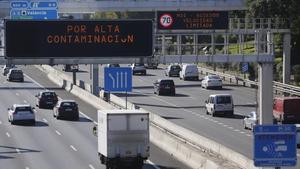 La autovía M-30 de circunvalación de Madrid.