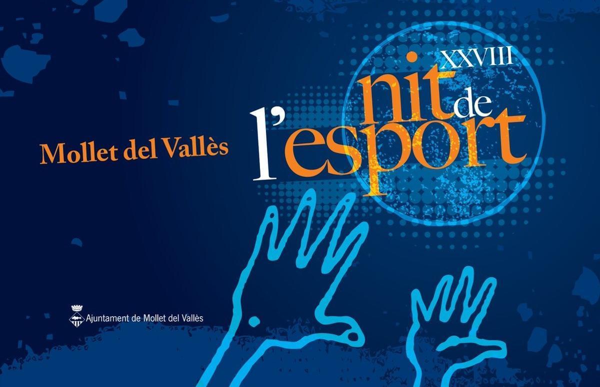 Cartel de la XXVIII Nit de l'Esport de Mollet del Vallès.
