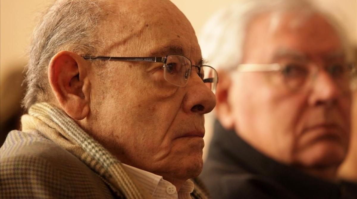 Fèlix Millet y Jordi Montull, en el primer día de juicio del 'caso Palau', el 1 de marzo.