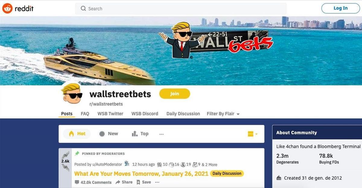 Chat de Reddit en el que se ha organizado el troleo a Wall Street