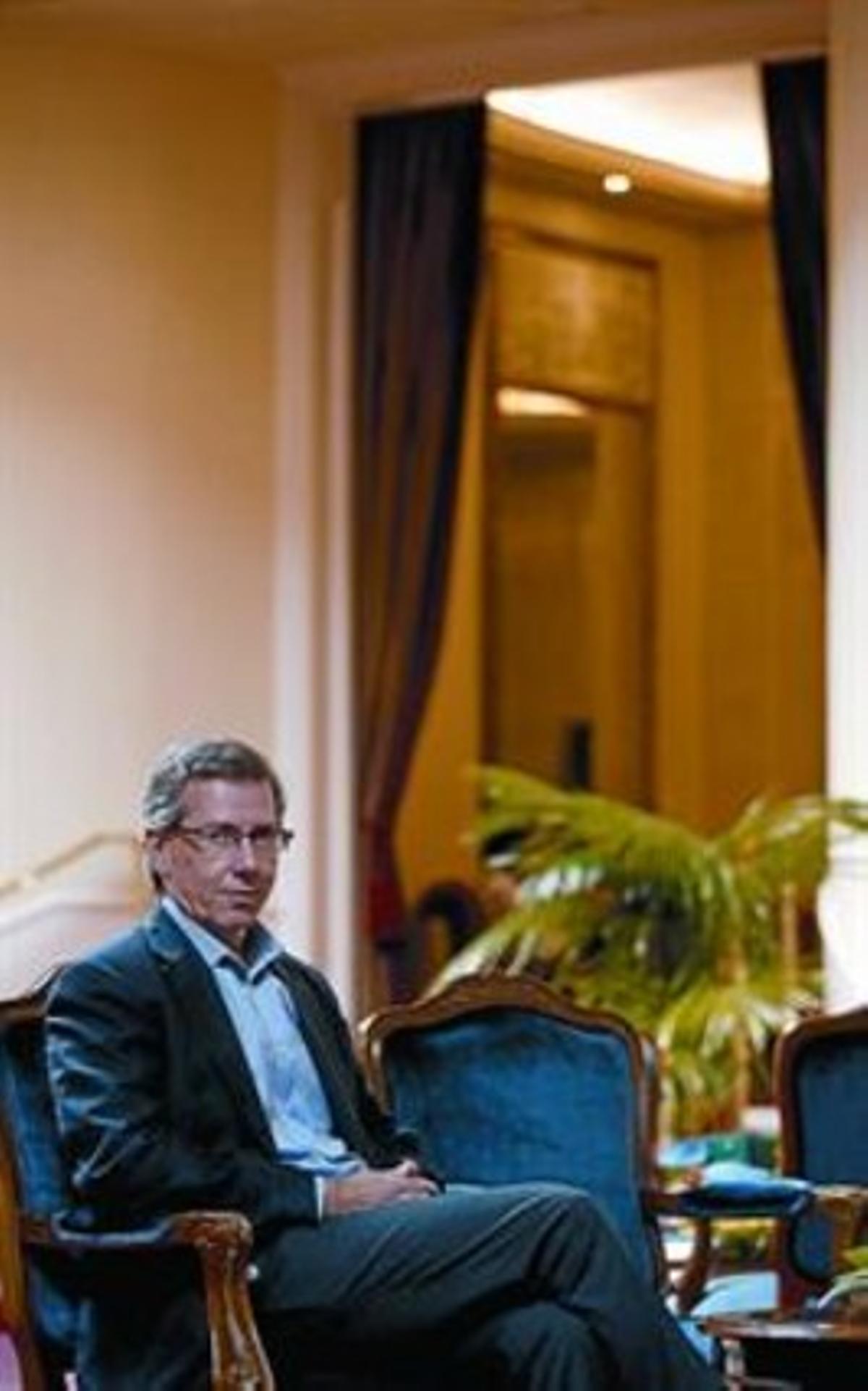 Bernardino León, el lunes, en un hotel de Madrid, tras la entrevista.