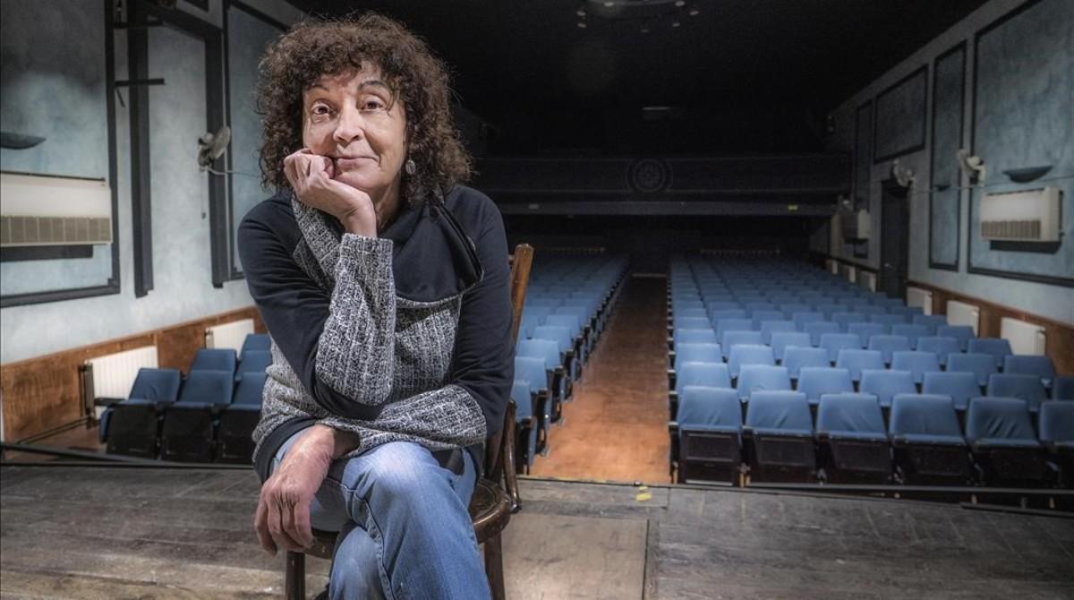 La actriz Montse Bonet, en el Casal Catòlic de Sant Andreu.