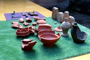 Parte de las piezas localizadas en el yacimiento del Parc Catalunya de Sabadell