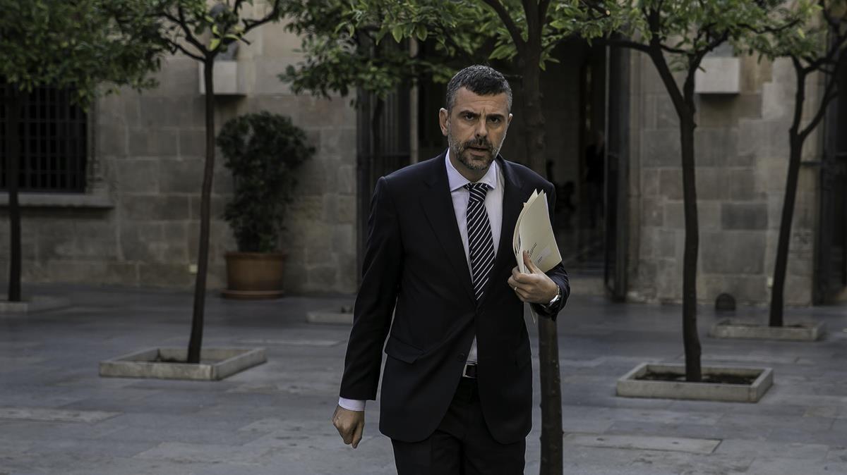 El 'exconseller' Santi Vila, en la Generalitat.