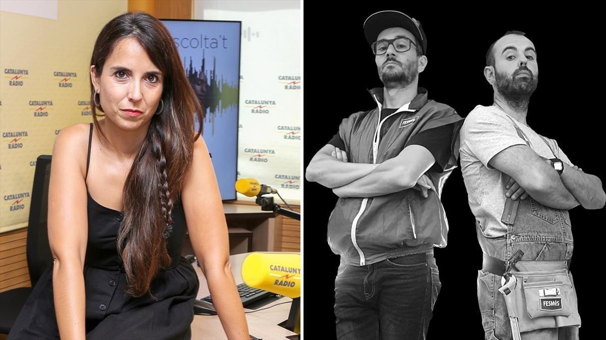 Laura Rosel, directora y presentadora de 'El matí de Catalunya Ràdio' y Peyu y Jair Domínguez, de 'El búnquer'.