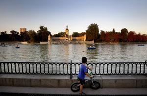 El lago del Parque del Retiro, en Madrid.