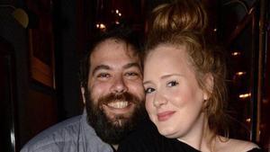 Adele y Simon Konecki, cuando estaban juntos.