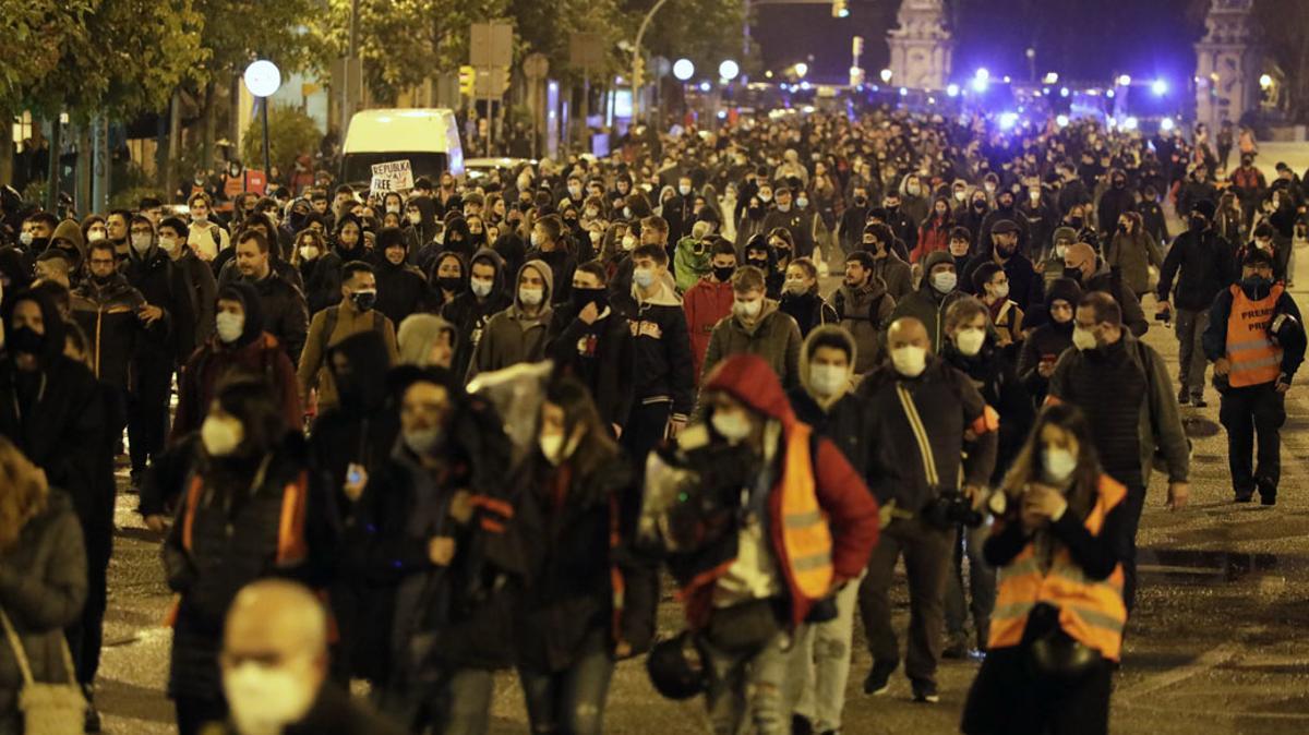 Protesta por Pablo Hasél.