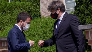 Aragonès viaja a Waterloo para reunirse con el expresident Carles Puigdemont