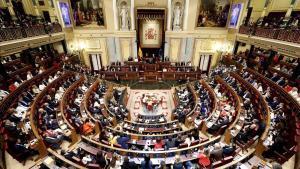 Vista general del hemiciclo del Congreso, durante la sesión constitutiva de la Cámara, el 21 de mayo de 2019.