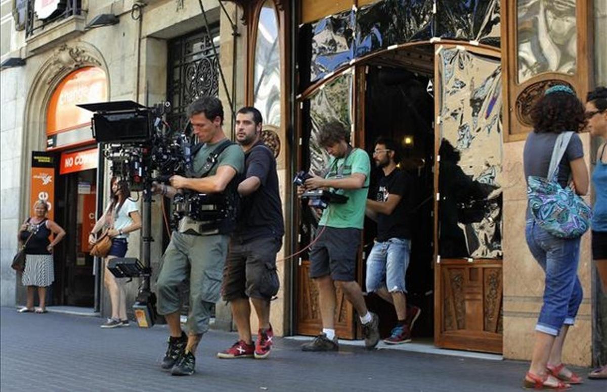 Cámaras de última tecnología en 3D, durante el rodaje del documental de Manuel Huerga sobre Barcelona.