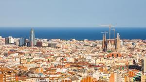 imagen aérea de Barcelona.