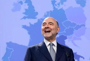 El comisario europeo de asuntos económicos, Pierre Moscovici, en una comparecencia en Bruselas.